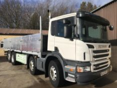 2012/12 REG SCANIA P360 8X2 P-SRS L-CLASS P365 LB ALLOY DROP SIDE TRUCK, GOOD CONDITION *PLUS VAT*