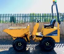 THWAITES 1 TONNE MACH 201 HIGH TIP DUMPER, YEAR 2013, HYDROSTATIC DRIVE, FOLDING ROPS, GOOD TYRES