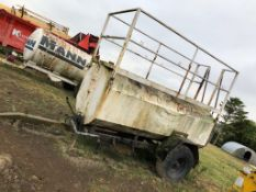 SINGLE AXLE TOW ABLE WATER BOWSER WITH LADDER AND PLATFORM *PLUS VAT*