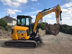 2016 JCB 51R-1 RUBBER TRACKED CRAWLER EXCAVATOR / DIGGER, 2672 HOURS, RUNS, DRIVES, DIGS *PLUS VAT*