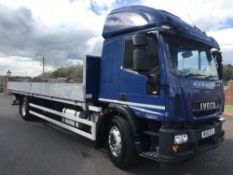 2013/13 REG IVECO EUROCARGO 180E25S 18 TON ALLOY DROP SIDE TRUCK IDEAL SCAFFOLDING WAGON *PLUS VAT*