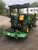 JOHN DEERE 1600 WIDE AREA TURBO BATWING RIDE ON LAWN MOWER, CRUISE CONTROL, RUNS & WORKS *NO VAT*