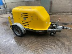 2014 CABLE PULLING WINCH, 2600 KG, SHOWING 124 HOURS, ADJUSTABLE ENGINE SPEED, STARTS & RUNS
