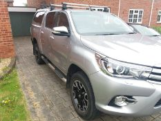 2017/17 REG TOYOTA HILUX INVINCIBLE X D-4D 4WD DOUBLE CAB 2.4 DIESEL, SHOWING 0 FORMER KEEPERS