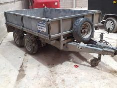IFOR WILLIAMS LM85 TWIN AXLE TRAILER DROPSIDE / FLATBED 2600 KG 8' X 5' *NO VAT*