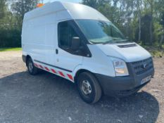 2012/62 REG FORD TRANSIT 100 T350 RWD 2.2 DIESEL VAN WITH 110V ELECTRICS, SHOWING 0 FORMER KEEPERS
