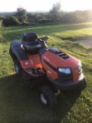 2019 HUSQVARNA TC138 RIDE ON LAWN MOWER, EX DEMO CONDITION, ONLY 34 HOURS, RUNS, DRIVES, CUTS