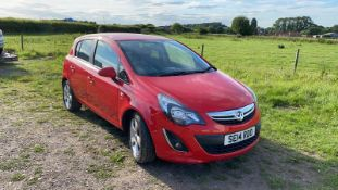 2014/14 REG VAUXHALL CORSA SXI AC ECOFLEX 1.2 PETROL RED 5DR HATCHBACK, SHOWING 2 FORMER KEEPERS