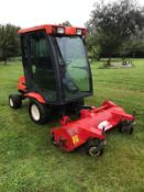 KUBOTA F3060 OUTFRONT FLAIL DECK LAWN MOWER WITH FULL GLASS CAB, RUNS, DRIVES AND CUTS *PLUS VAT*