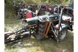 DS - 2008 HAYTER TM749 TRAILERED 7 GANG MOWER. WORKING UNIT.  2008 TM749 MODEL.  7 X GANG MOWER