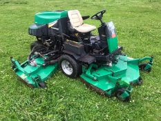 RANSOMES HR6010 BATWING RIDE ON LAWN MOWER, YEAR 2007, ONLY DONE 3431 HOURS *NO VAT*