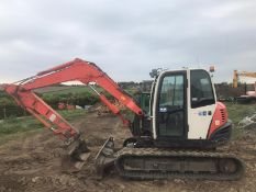 KUBOTA K080-3 TRACKED CRAWLER EXCAVATOR, C/W 2 X BUCKETS, RUNS, DRIVES AND DIGS *PLUS VAT*