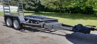 BRADLEY TWIN AXLE TOW-ABLE PLANT TRAILER WITH RAMP, MODEL S2600PT, YEAR 2010, 2600 KG GROSS *NO VAT*