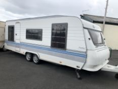HOBBY 2002 PRESTIGE SILVERLINE TWIN AXLE CARAVAN, YEAR 2002, 4 BERTH *NO VAT*