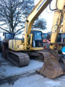 KOMATSU PC130-6 TRACKED CRAWLER EXCAVATOR, 2 X DIGGING BUCKETS, ALL IN WORKING ORDER *PLUS VAT*
