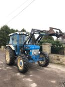 1990/G REG FORD NEW HOLLAND 7610 BLUE TRACTOR, C/W FRONT LOADER, SHOWING 1 FORMER KEEPER *PLUS VAT*