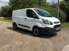 2017/17 REG FORD TRANSIT CUSTOM 290 2.0 DIESEL WHITE PANEL VAN, SHOWING 0 FORMER KEEPERS *PLUS VAT*