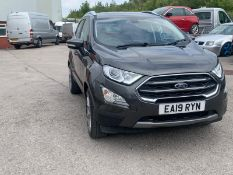 2019/19 REG FORD ECOSPORT TITANIUM 998CC PETROL 125BHP 5DR, SHOWING 0 FORMER KEEPERS *NO VAT*