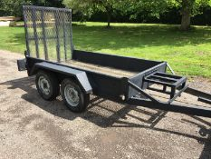 INDESPENSION TWIN AXLE TOW-ABLE PLANT TRAILER BLACK *PLUS VAT*