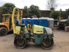 AMMANN RIDE ON VIBRATING ROLLER, RUNS, DRIVES AND VIBRATES, 1424 HOURS, 1200MM *PLUS VAT*