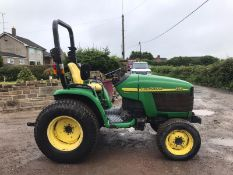 JOHN DEERE 4310 COMPACT TRACTOR WITH ROLL BAR, RUNS AND DRIVES *PLUS VAT*