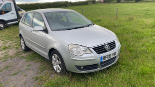 2008/08 REG VOLKSWAGEN POLO MATCH SILVER 1.2 PETROL 5 DOOR HATCHBACK, SHOWING 3 FORMER KEEPERS