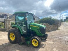 JOHN DEERE 4720 TRACTOR WITH UNDERSLUNG MOWER, 50HP TRACTOR WITH FULL GLASS CAB *PLUS VAT*