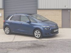 2014/63 REG CITROEN C4 PICASSO E-HDI AIRDREAM EXCLUSIVE PLUS ETG6 1.6 MPV BLUE SEMI-AUTO *NO VAT*