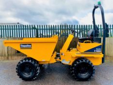 ONLY 3 HOURS! 2019 THWAITES 3 TONNE STRAIGHT TIP DUMPER, MACH 570, NEW / UNUSED, ROAD LIGHTS