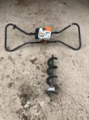 STIHL BT360 POST HOLE BORER 2 MAN, C/W AUGER *PLUS VAT*