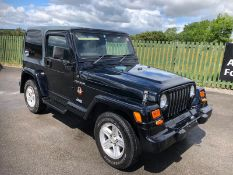JEEP WRANGLER 4.0 LIMITED EDITION SAHARA 2 SEAT 2 DOOR AUTOMATIC 4X4, GENUINE 75624 MILES FROM NEW