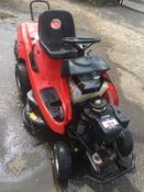 AL-KO T15-102 HD RIDE ON LAWN MOWER, 225 KG, YEAR 2002, C/W REAR GRASS COLLECTOR, 11.5HP I/C ENGINE