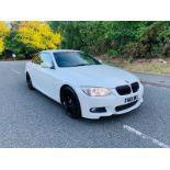 2010/10 REG BMW 330D M SPORT 3.0 DIESEL AUTOMATIC WHITE CONVERTIBLE *NO VAT*