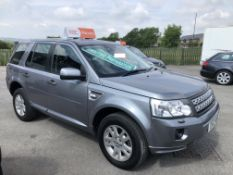 2012/12 REG LAND ROVER FREELANDER XS SD4 AUTO 2.2 DIESEL GREY, SHOWING 2 FORMER KEEPERS *NO VAT*