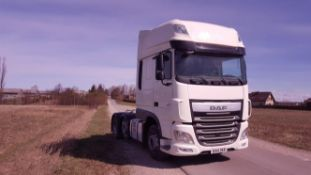 2014/14 REG DAF TRUCKS XF 440 FTG LHD WHITE DIESEL TRACTOR UNIT, SHOWING 0 FORMER KEEPERS *NO VAT*