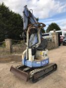 HANNEX N&B 15 RUBBER TRACKED CRAWLER EXCAVATOR, RUNS, DRIVES & DIGS, TRACKS ARE LIKE NEW *PLUS VAT*