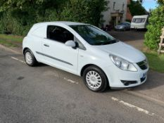 2007/07 REG VAUXHALL CORSA CDTI 1.25 DIESEL CAR DERIVED VAN WHITE, SHOWING 3 FORMER KEEPERS *NO VAT*