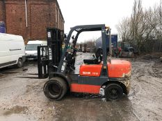 NEXEN FD30 TWIN WHEEL FORKLIFT, CONTAINER SPEC, 3 STAGE MAST, SIDE SHIT *PLUS VAT*