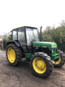 JOHN DEERE 1950 TRACTOR, 4 WHEEL DRIVE, FULL GLASS CAB, RUNS, WORKS, DOES EVERYTHING IT SHOULD