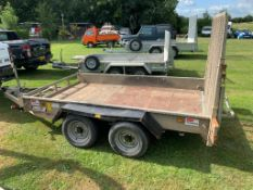 INDESPENSION 10FT X 6FT TWIN AXLE 3500 KG PLANT TRAILER, RING HITCH, LED LIGHTS - WORKING *PLUS VAT*