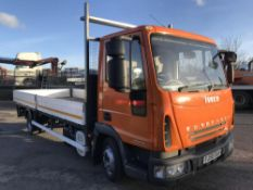 2008/58 REG IVECO EUROCARGO 75E16 DROP SIDE TRUCK 7.5 TON ONLY 112,000 MILES, MANUAL GEARBOX