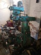 BEAVER MILLING MACHINE 3-PHASE POWER, GOOD RELIABLE MACHINE, LOADING FACILITIES ON SITE *PLUS VAT*