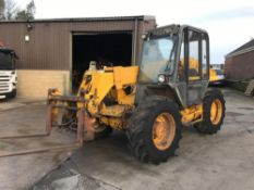 JCB 525-58 4X4 TELEHANDLER FORKLIFT WITH PICK-UP HITCH, GOOD WORKING CONDITION *PLUS VAT*