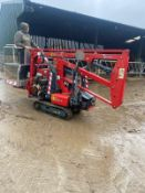 HINOWA HP1150 RUBBER TRACKED LIFT, YEAR 2005, RUNS, DRIVES & LIFTS, EXPANDING TRACKS *PLUS VAT*