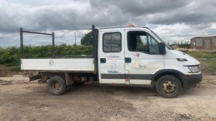 2005/55 REG IVECO DAILY 35C12 LWB 2.3 DIESEL WHITE TIPPER, SHOWING 1 FORMER KEEPER *NO VAT*