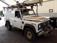 2011/11 REG LAND ROVER DEFENDER 110 HARD TOP 2.4 TURBO DIESEL, SHOWING 0 FORMER KEEPERS *PLUS VAT*