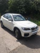 2013/13 REG BMW X6 M50D AUTOMATIC 3.0 DIESEL WHITE, SHOWING 1 FORMER KEEPER *NO VAT*