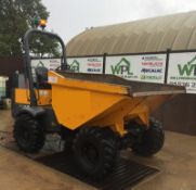 2015 TEREX TA3H STRAIGHT TIP DUMPER, CIRCA 1700 HOURS, 60% TYRES, RUNS AND WORKS *PLUS VAT*