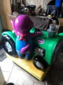 Barney The Dinosaur Green / Purple Coin Operated Car Kids Ride On Car *Plus Vat*