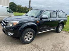 2011/11 REG FORD RANGER XLT 4X4 DOUBLE CAB TDCI BLACK PICK-UP, SHOWING 1 FORMER KEEPER *NO VAT*